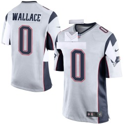 Nike Courtney Wallace New England Patriots Men's Game White Jersey