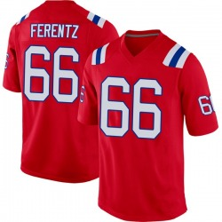 Nike James Ferentz New England Patriots Youth Game Red Alternate Jersey