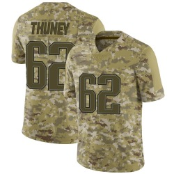 Joe Thuney New England Patriots Men's Limited Camo 2018 Salute to Service Jersey