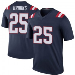 Nike Terrence Brooks New England Patriots Men's Legend Navy Color Rush Jersey