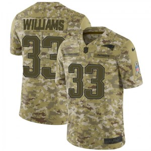Nike Joejuan Williams New England Patriots Youth Limited Camo 2018 Salute to Service Jersey