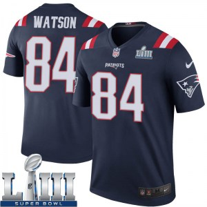 Nike Benjamin Watson New England Patriots Youth Legend Navy Color Rush Super Bowl LIII Jersey