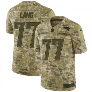 Nike Cedrick Lang New England Patriots Men's Limited Camo 2018 Salute to Service Jersey