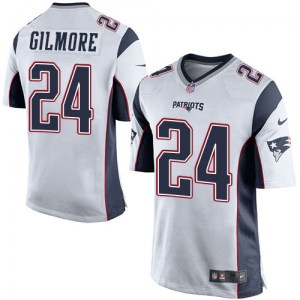 Nike Stephon Gilmore New England Patriots Men's Game White Jersey