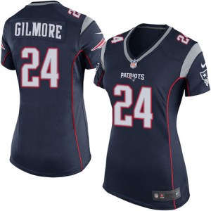 Nike Stephon Gilmore New England Patriots Women's Game Navy Blue Team Color Jersey
