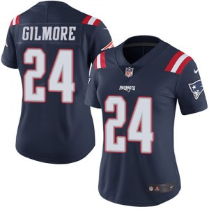 Nike Stephon Gilmore New England Patriots Women's Limited Navy Blue Color Rush Jersey